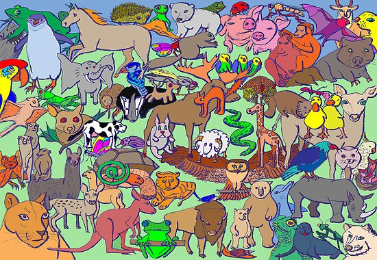 World Wildlife - Coloured by David Fraser