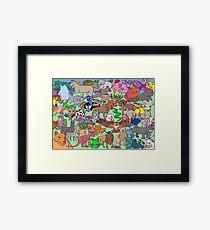 World Wildlife - Coloured Framed Print