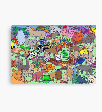 World Wildlife - Coloured Canvas Print