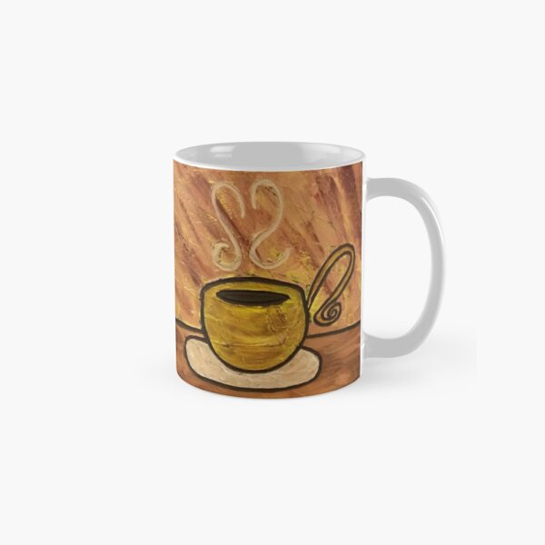 Morning Mocha Coffee Cup Painting Classic Mug