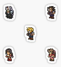 Final Fantasy VII sprites Sticker