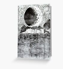 Resting Moon Greeting Card