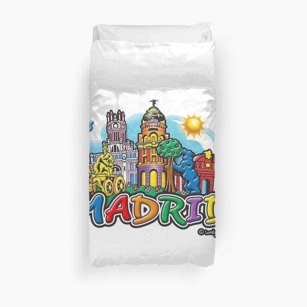 Escena de la ciudad mágica de Madrid famoso día encantador diseño Funda nórdica