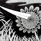 243 - THE PIERCED FLOWER - DAVE EDWARDS - INK - 2013 by BLYTHART
