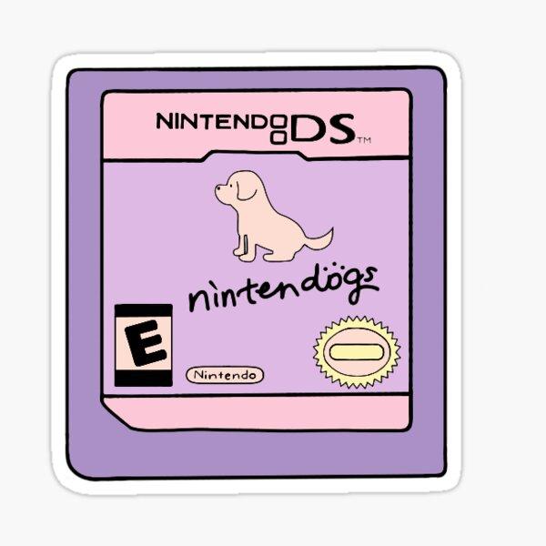 Purple Nintendogs DS Cartridge Sticker