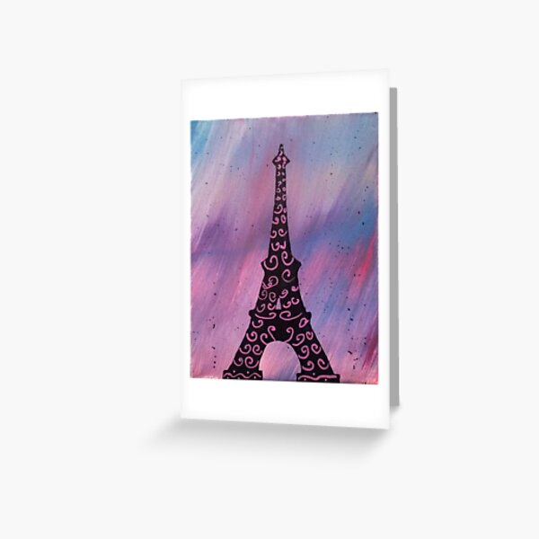 Eiffel Tower Painting Greeting Card