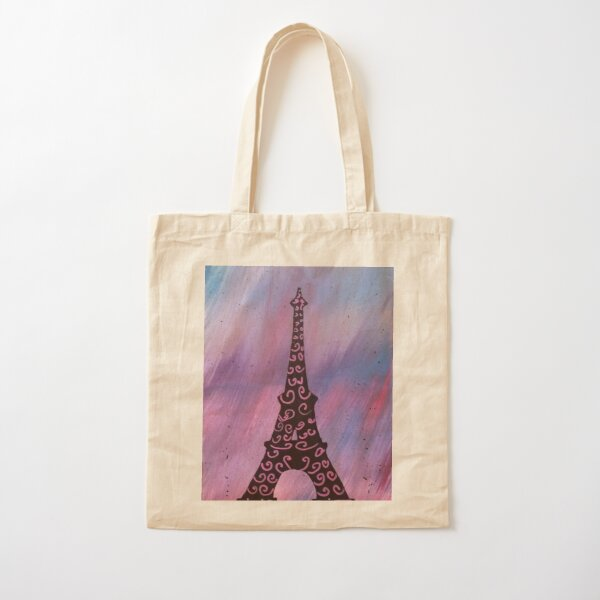 Eiffel Tower Painting Cotton Tote Bag