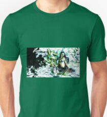 Mermaids at the waters edge. Unisex T-Shirt