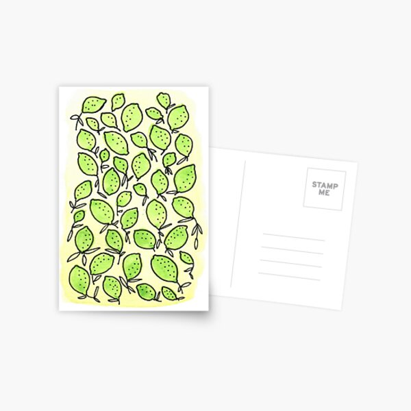 Lime Pattern Postcard