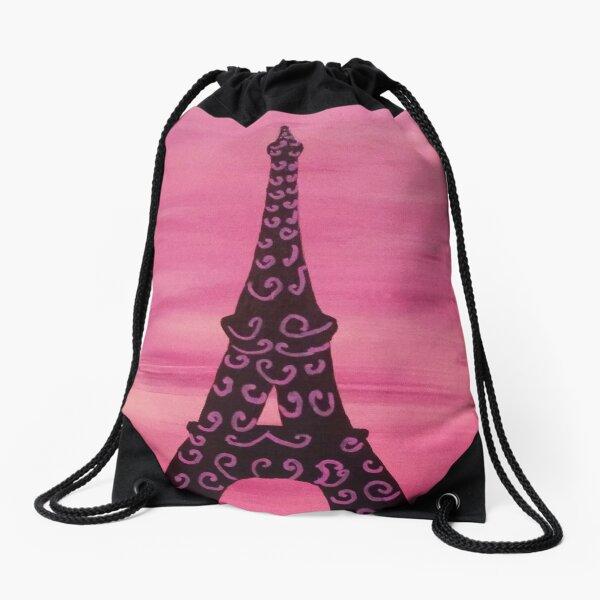 Eiffel Tower Painting 2 Drawstring Bag
