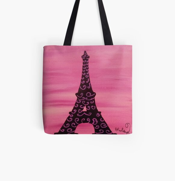 Eiffel Tower Painting 2 All Over Print Tote Bag