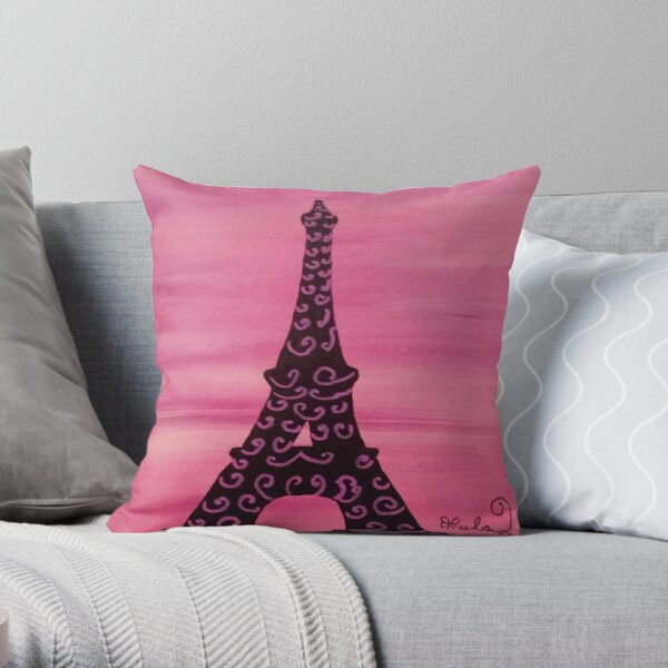 Eiffel Tower Painting 2 Throw Pillow