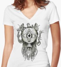 The Eye T-Shirt Women's Fitted V-Neck T-Shirt