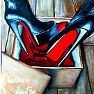 Christian Louboutin Red Bottom Boot in a Box by Arts4U