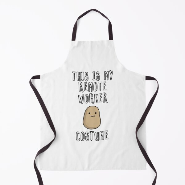 This Is My Potato Remote Worker Costume Apron