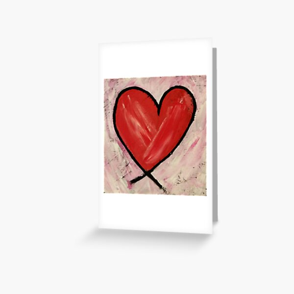 Heart Painting Greeting Card