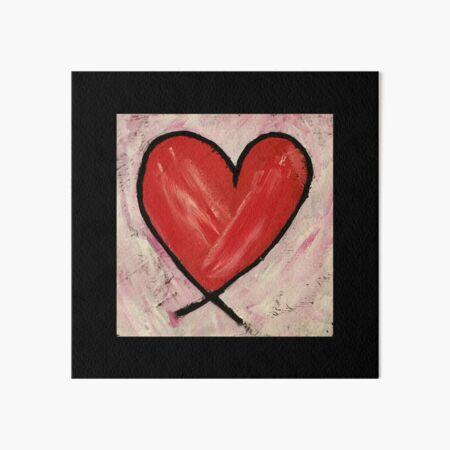 Heart Painting Art Board Print