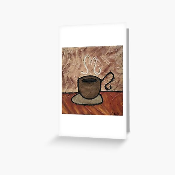 Coffee Cup Painting Greeting Card