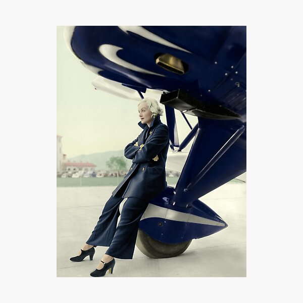 Carole Lombard and the Plane Photographic Print