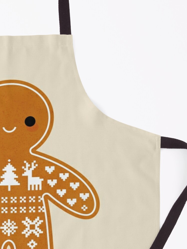 Alternate view of Sweater Pattern Gingerbread Cookie Apron