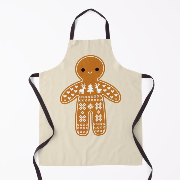 Sweater Pattern Gingerbread Cookie Apron