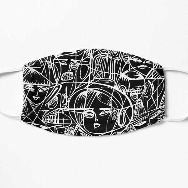 Faces - wall / street art Flat Mask