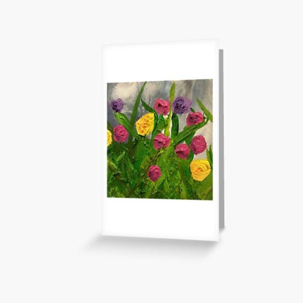 Flower Garden Painting Greeting Card