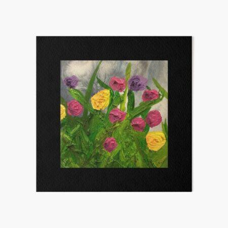 Flower Garden Painting Art Board Print