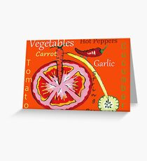 Vegetables Greeting Card
