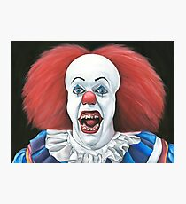 Pennywise the clown - Oil Painting Photographic Print