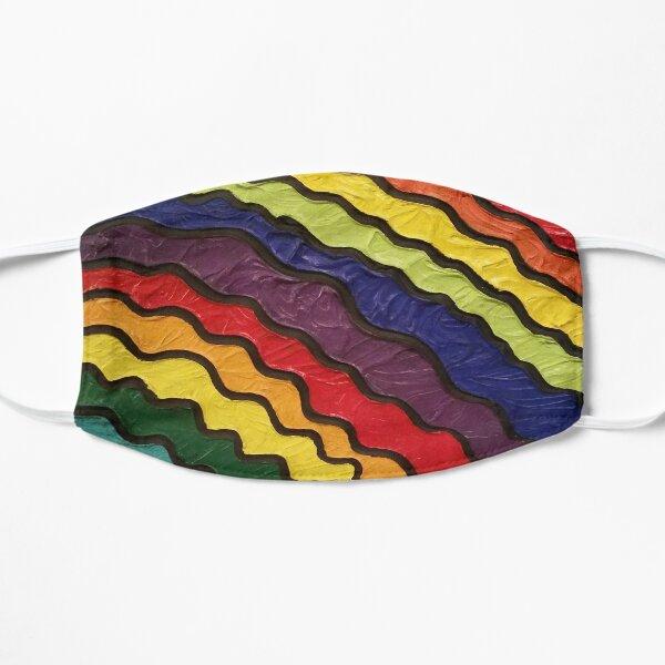 Rainbow Happiness Painting Flat Mask