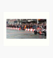 Jenson Button- Deansgate, Manchester Art Print