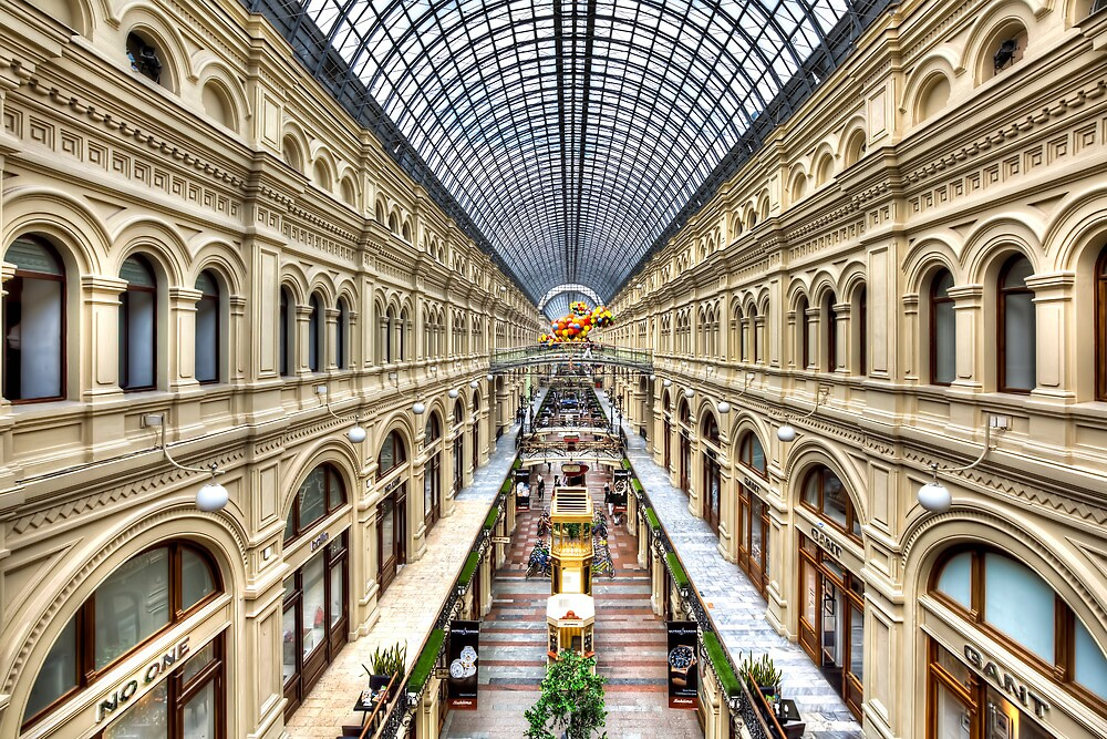 GUM Department Store in Moscow by Marc Garrido Clotet