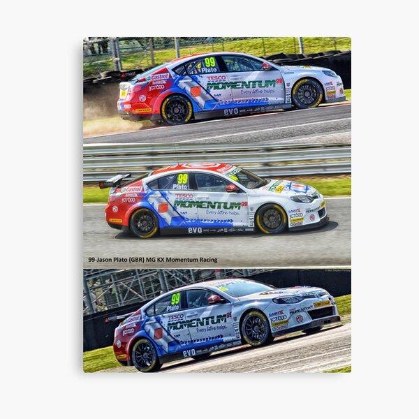BTCC Jason Plato 2019 Art Motor Sport Canvas
