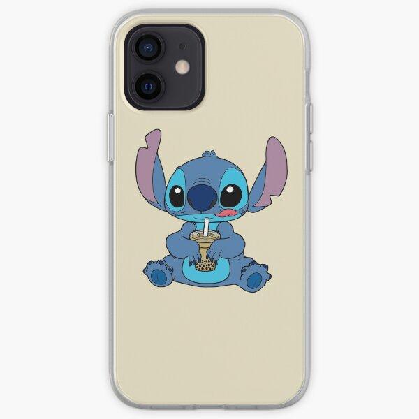 Stitch With Bubble Milk Tea iPhone Soft Case