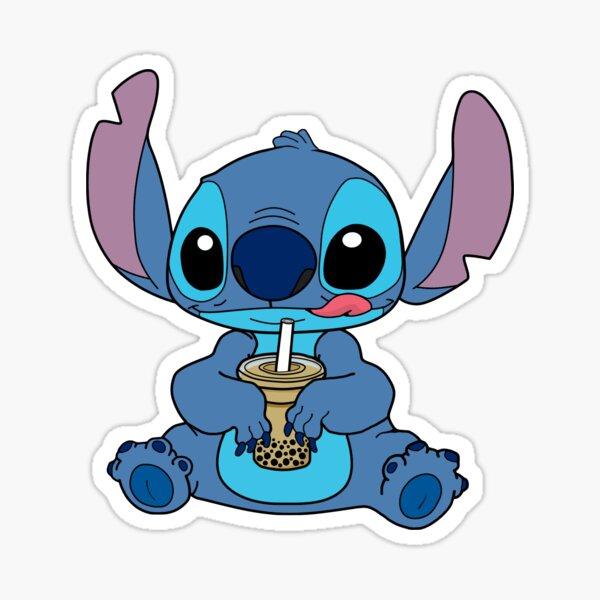 Stitch With Bubble Milk Tea Sticker