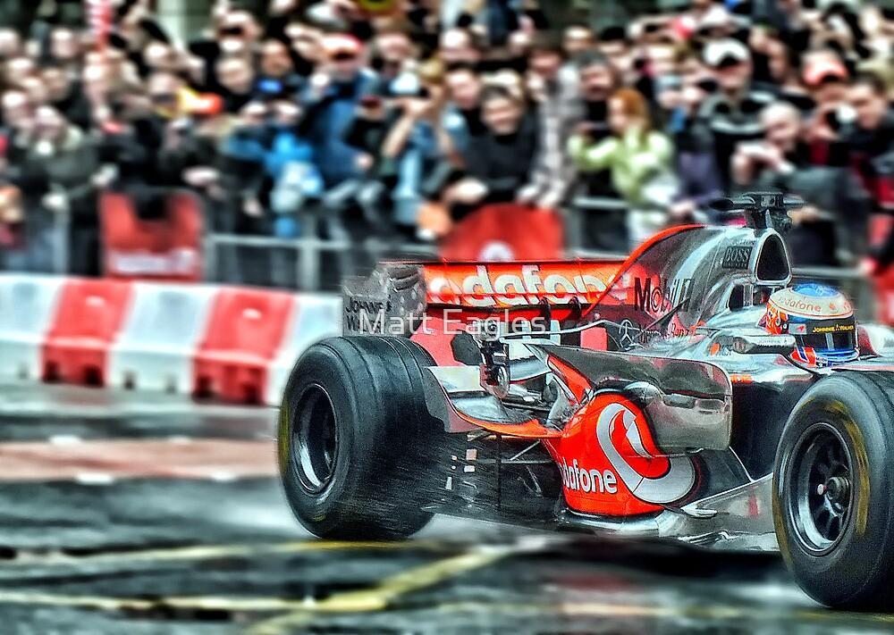 Jenson Button by Matt Eagles