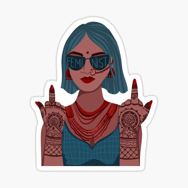 Desi Feminist Sticker