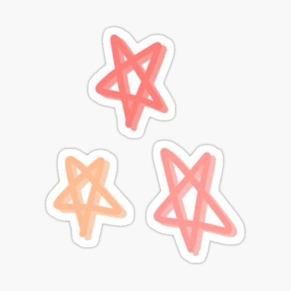 Peach Stars Sticker
