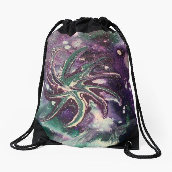 Galaxy Gaze Painting Drawstring Bag