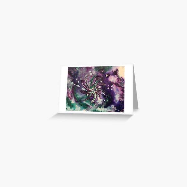 Galaxy Gaze Painting Greeting Card