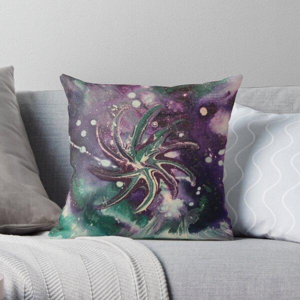 Galaxy Gaze Painting Throw Pillow