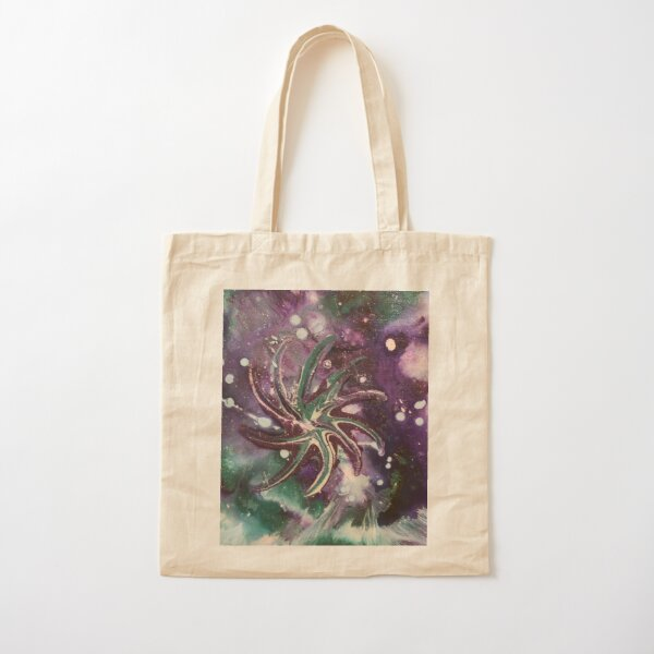 Galaxy Gaze Painting Cotton Tote Bag
