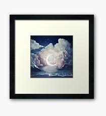 upon the sky-foam. Framed Print