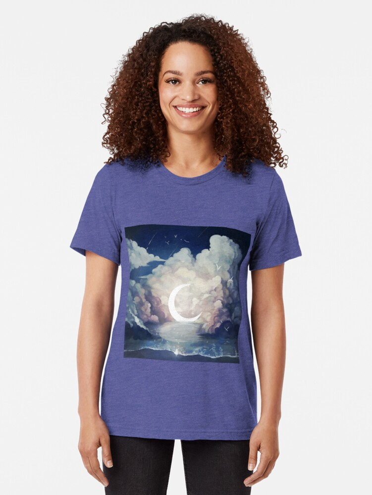Alternate view of upon the sky-foam. Tri-blend T-Shirt