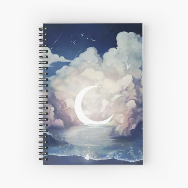 upon the sky-foam. Spiral Notebook