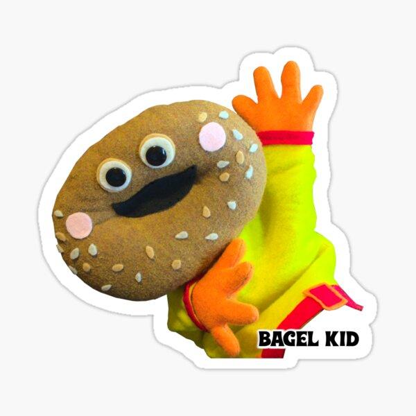 Wump Mucket Puppets Bagel Kid High Four Sticker