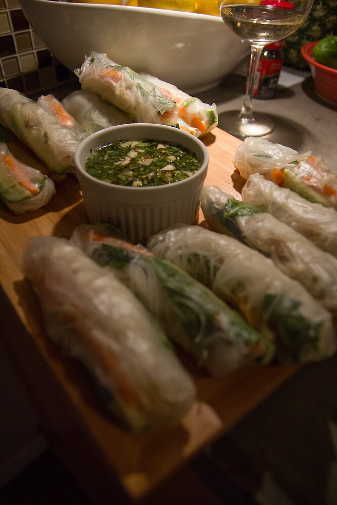 Vietnamese Spring Rolls by Dominic Perry
