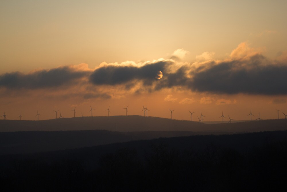 Sunset on Windmills by Dominic Perry