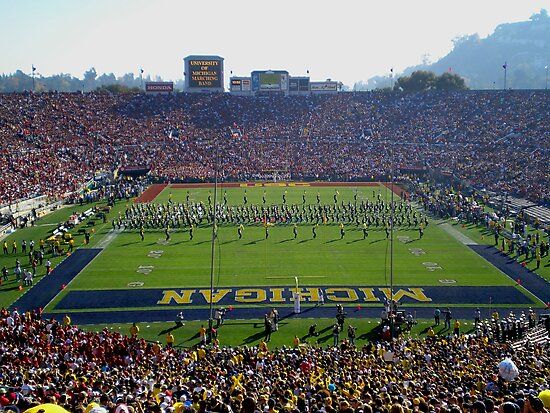 ROSE BOWL JANUARY 2007 MICHIGAN vs. USC PASADENA CALIFORNIA by photographized